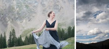 bridesmaids in mountains