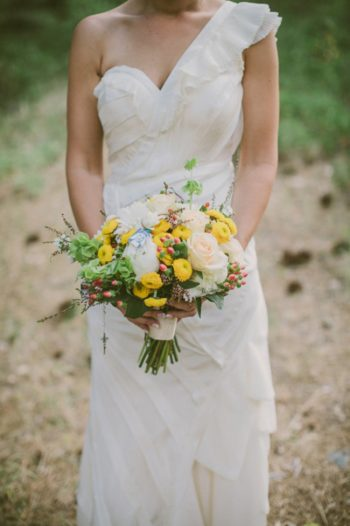 vintage bride's rustic wedding bouquet
