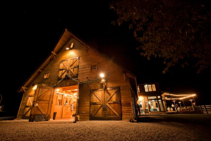 rustic bard wedding in Colorado