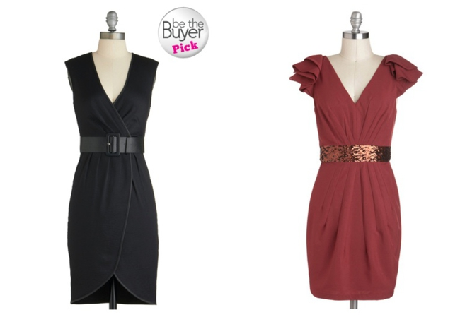 belted party dresses
