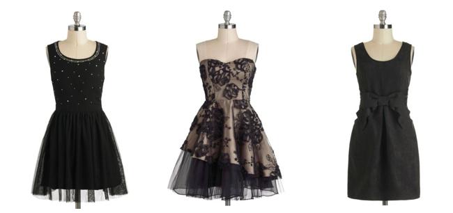 black vintage inspired bridesmaids dresses