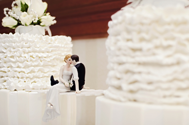 double wedding cake Alaska wedding
