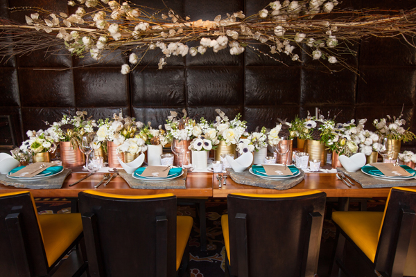 rustic and refined table scape