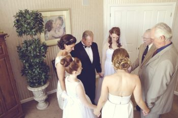 Alaska wedding family prayer