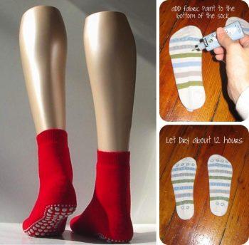 DIY No Slip Socks