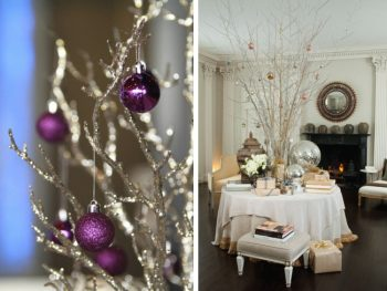 tree and ornament centerpieces