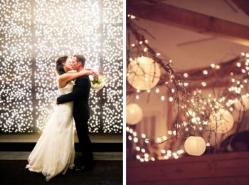 Twinkle Lights for a Winter Wedding