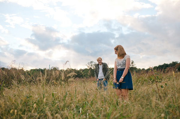 Western north carolina photography couple in a field
