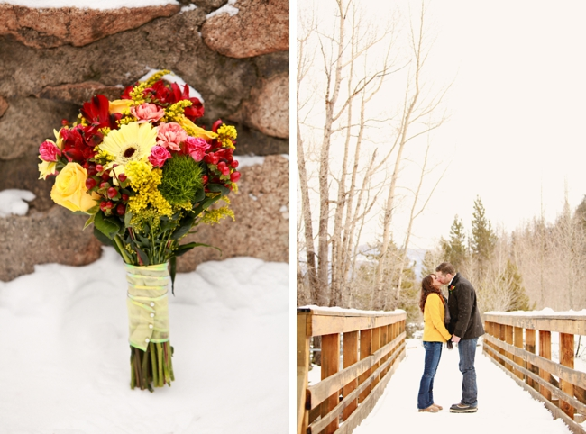 colorado bride and groom take a moment to kiss on a foot bridge