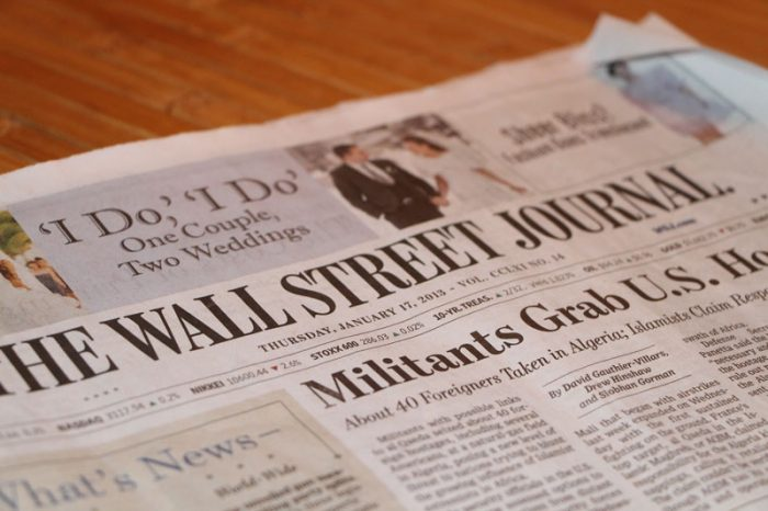 Wall Street Journal Two Weddings