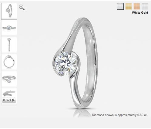 Cherish round-cut diamond engagement ring