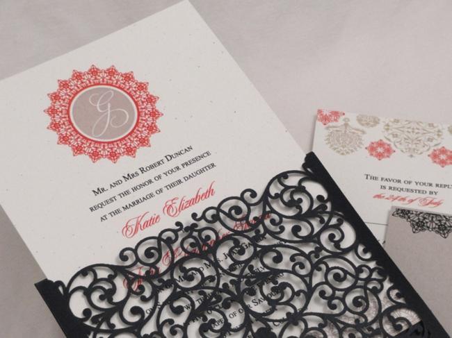 Spanish lace invitation cover