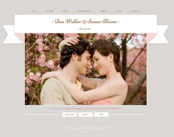 Wix wedding website sample