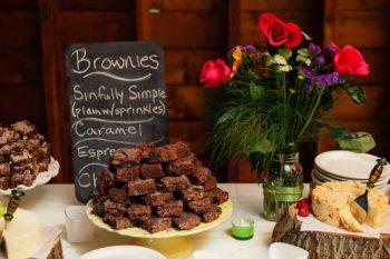 wedding brownie bar