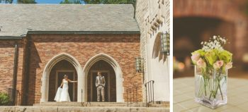knoxville church and rose wedding centerpieces