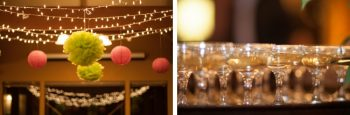 green and pink paper lanterns