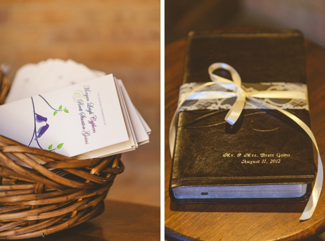 wedding ceremony programs and family bible