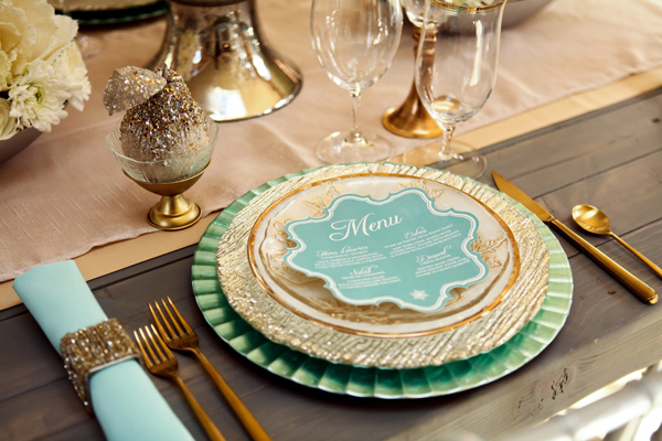 Mint and Gold Utah Inspiration Shoot