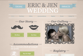 fun wedding website sample by Wix