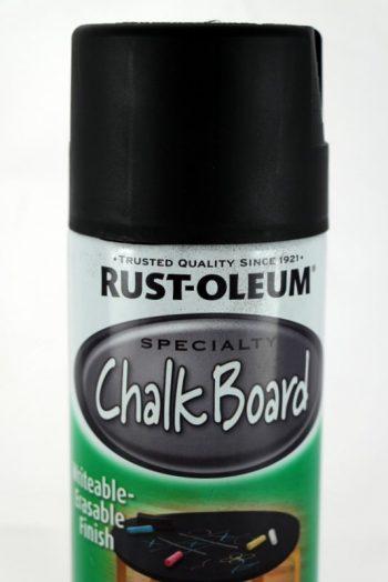 Rustoleum chalkboard spray paint