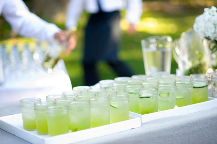 cucumber and gin signature wedding cocktail
