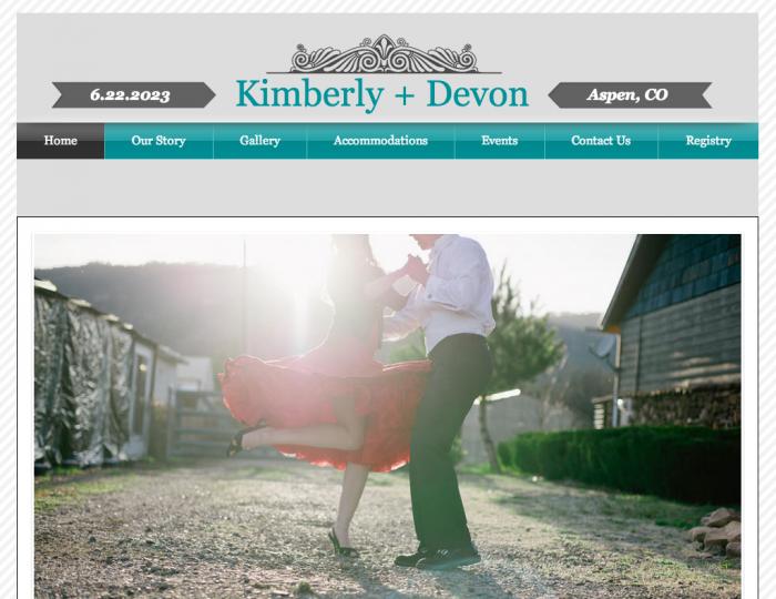 Wix Wedding Website Homepage