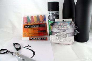 chalkboard centerpiece supplies