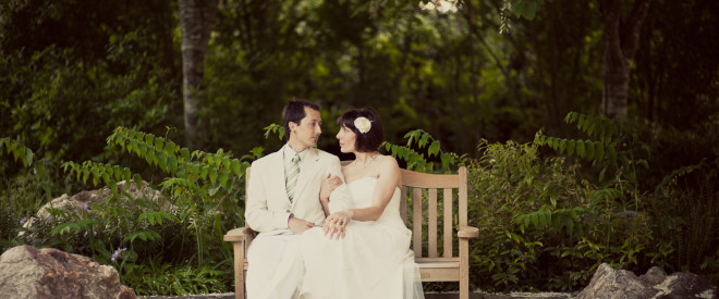 mountainside bride and groom portrait by Two Ring Studios