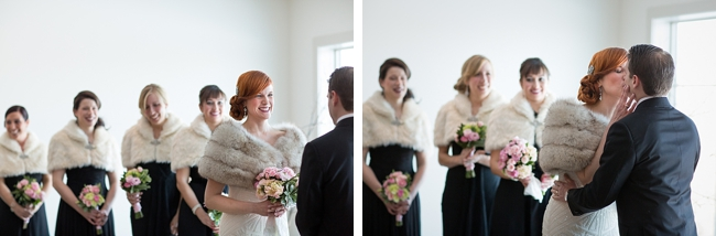 vermont winter wedding ceremony