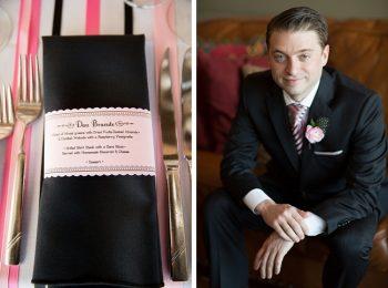 blush and black wedding details vermont