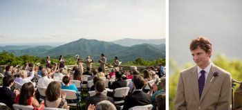 outdoor wedding ceremony near asheville