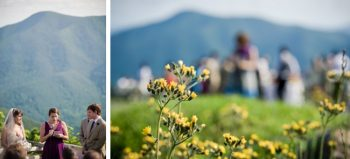 outdoor wedding ceremony with mountain views near asheville