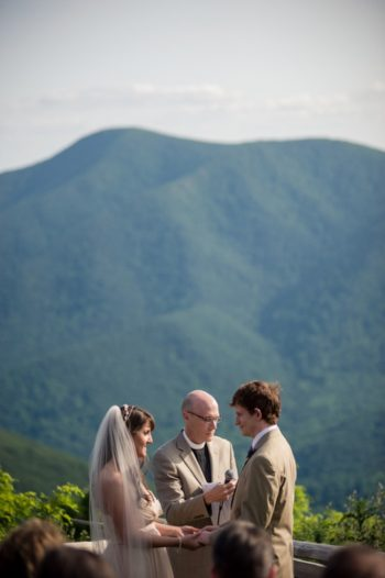 Marriage ceremony in western North Carolina