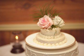 Small handmade wedding cake
