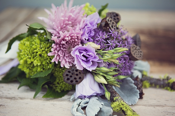 Purple and Green Elegant Bouquet