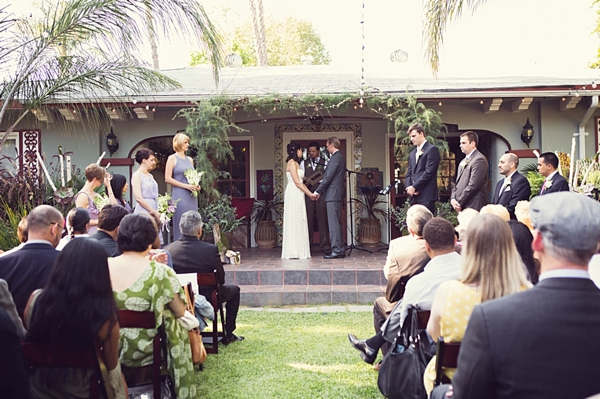 California Backyard wedding
