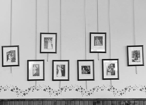 vintage family wedding portraits
