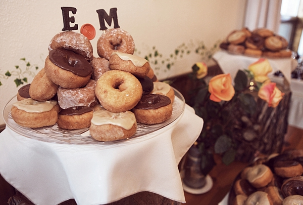 wedding donut display