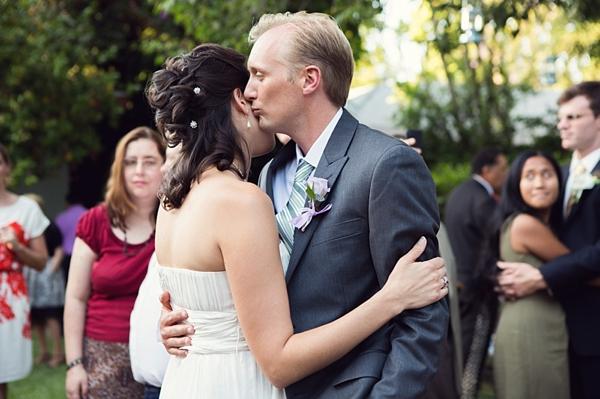 first dance in a California backyard reception