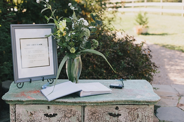 vintage guest book table