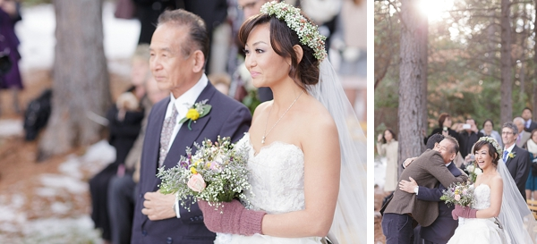 father walks bride down aisle via Gavin Farrington Photography