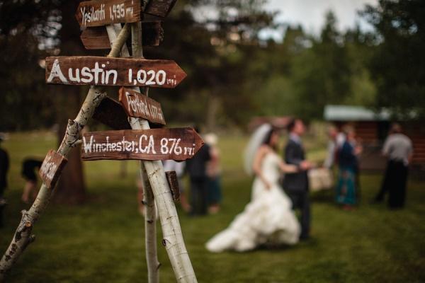 Colorado wedding signs