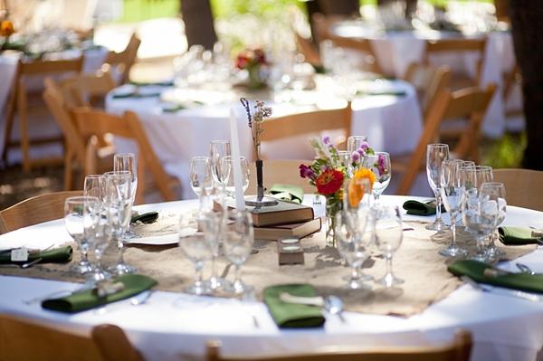 pretty rustic wedding reception tables