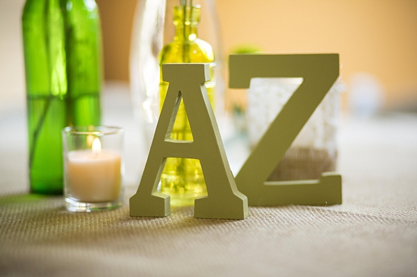 A to Z wooden centerpieces