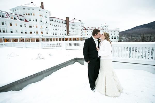Couple on balcony of Mount Washington Hotel