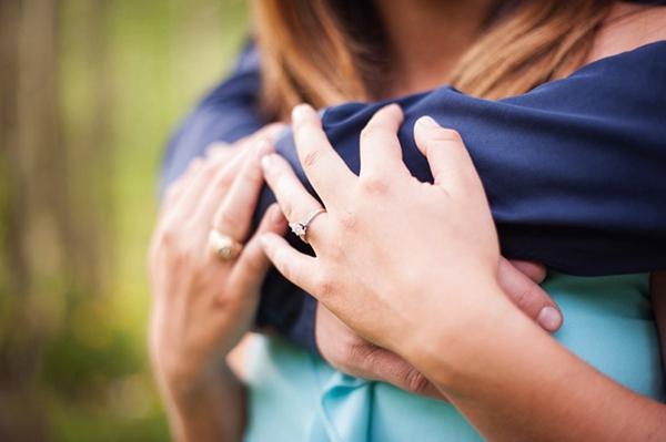 Aspen engagement ring closeup