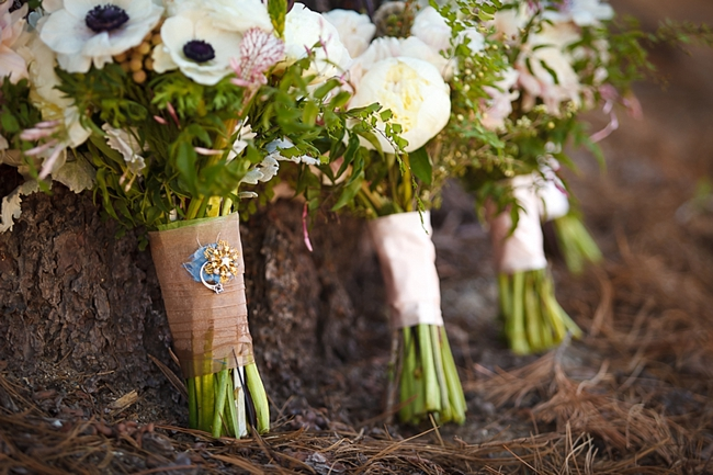 rustic flowers sequoia national park wedding