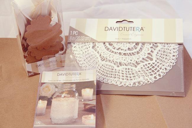 David Tutera rustic DIY supplies