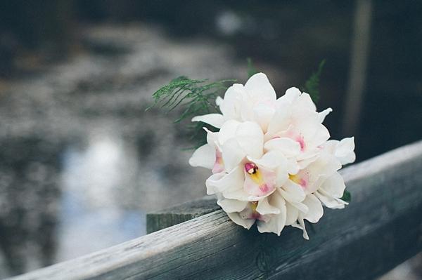 white orchid bouquet