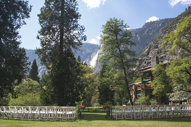 Yosemite Falls wedding ceremony site